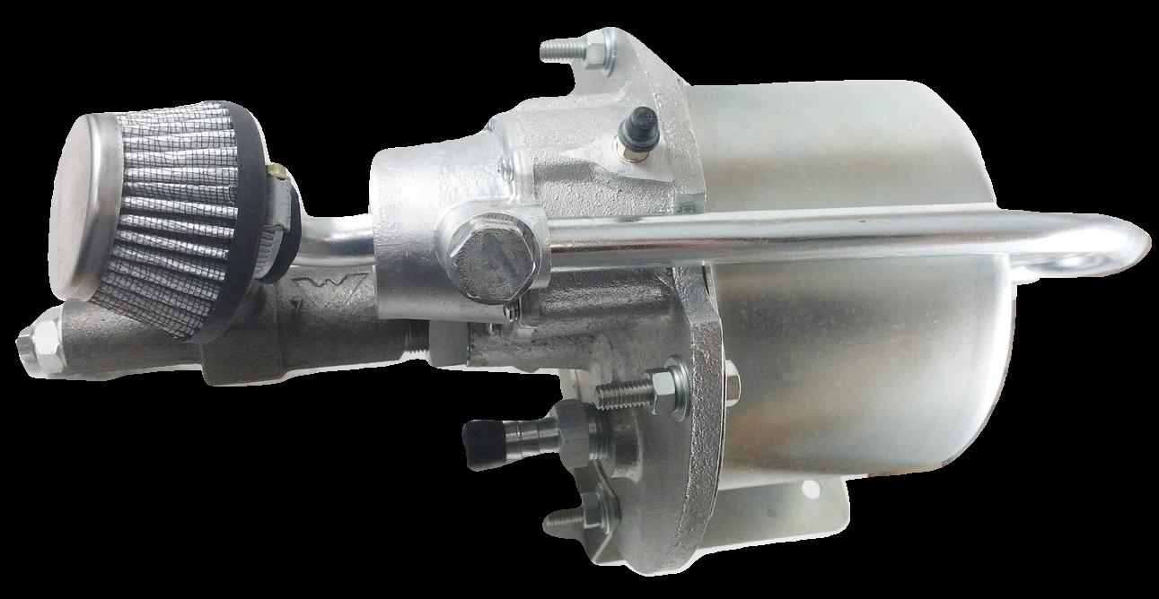 Servo Freio 6'' Power Stop (Hidrovácuo) - TOYOTA Bandeirantes / FORD F100 / F75 / Jeep / Rural - GM C10 / C14 / Veraneio - VW Fusca - 234 (Adaptação)