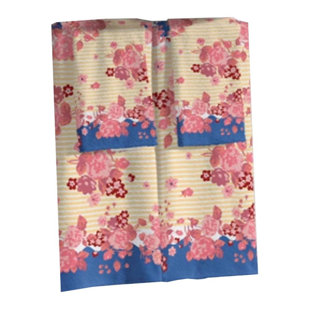 Toalha de Banho e Rosto Rubi Azul Lepper - com 2 Peças - 42352