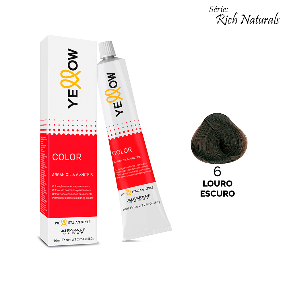 Yellow Color Rich Naturals - 6 LOURO ESCURO