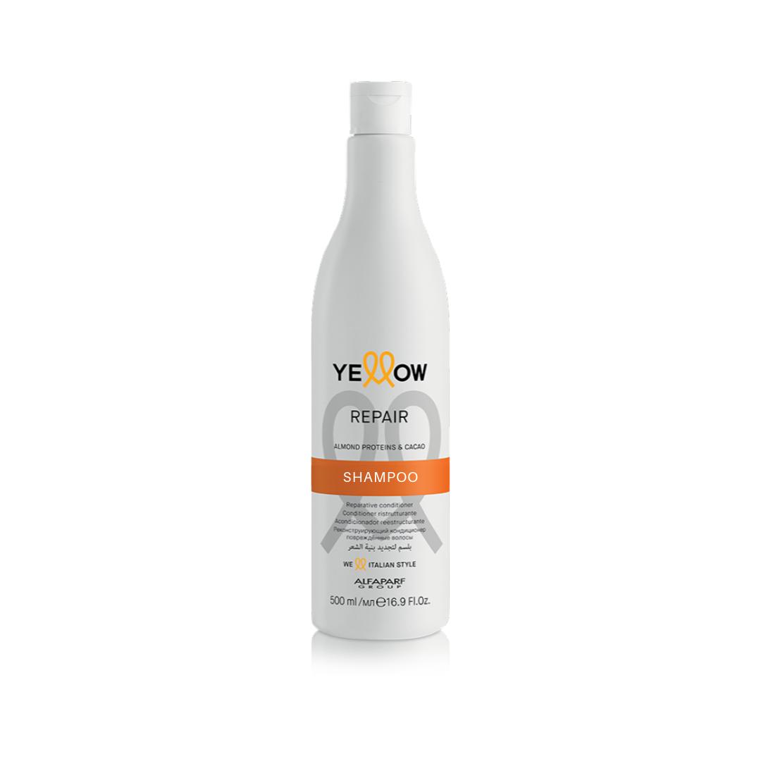Shampoo Yellow Repair Amêndoa e Manteiga de Cacau.